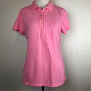 J. Crew Factory pink polo shirt medium